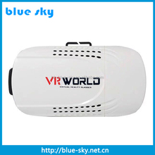 Black white classical VR box 3D glasses for mobile phone 3.5-6.0 inch