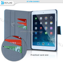 Best quality 2017 PU leather magnetic stand card slot for ipad mini 2 book case