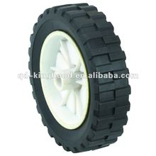 Solid rubber garden cart wheel