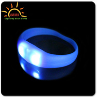 Professional Cheap Custom Silicone Wristband promotional OEM & ODM sports Motion Activated light up Bracelet