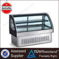 Competitive Price New Design Glass Refrigerated cake display