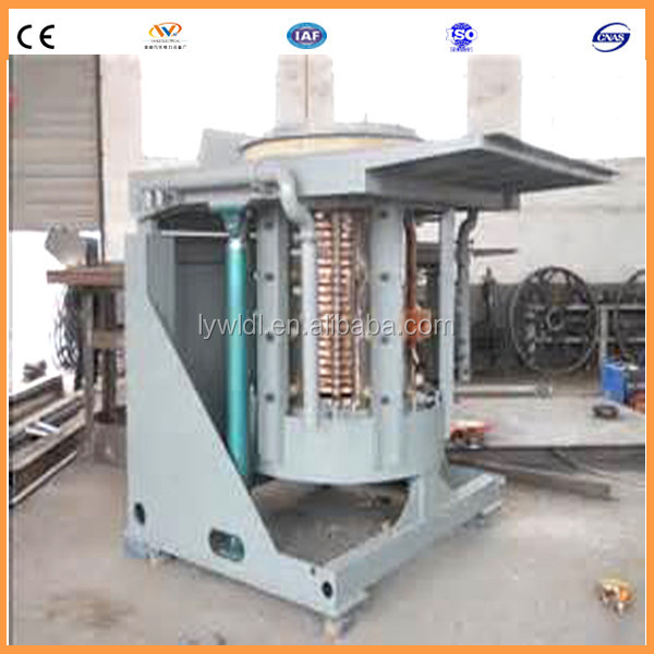 hydraulic tilting 1ton metal lead electric induction furnace for melting lead and zinc