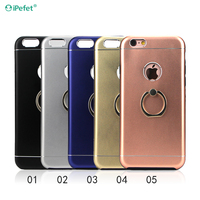 Aluminum Metal bumper case cover with ring holder buckle for iPhone 6/6plus/7