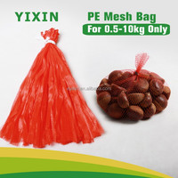 tubular PE red vegetable mesh netting bags manufacturer factory