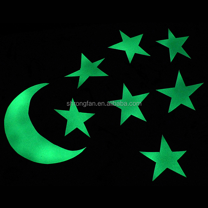 New Design Glow In The Dark Star Wall Sticker For Kids Room Decoration