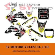 CRF50 pit bike moto PVC stickers graphics 3M
