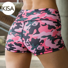 Breathable Athletic Workout Quick Dry Women Running Shorts Printing Gym Shorts