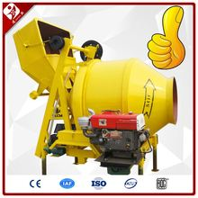 Jzr350 350L Small Hydraulic Mobile Drum Low Noise Used Diesel Concrete Mixer For Sale
