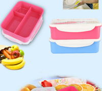 Spoon&Chopsticks Toothpick holder Pack Eco Friendly Airtight Microwavable and Refrigerated Lunch Box for Work