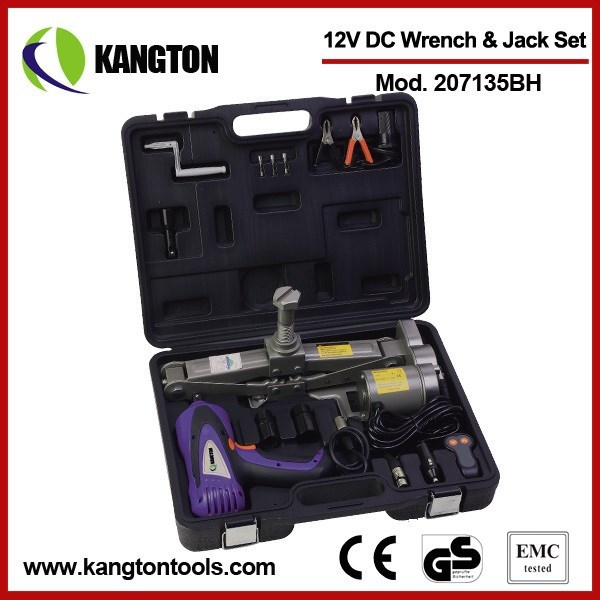 KANGTON DC 12V Electric Torque Wrench Impact Wrench and Car Jack Set