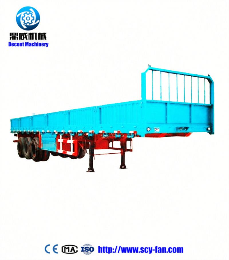 Low-bed semi-trailer & Kindle platform container truck semi trailer with OEM service , truck trailer spare parts
