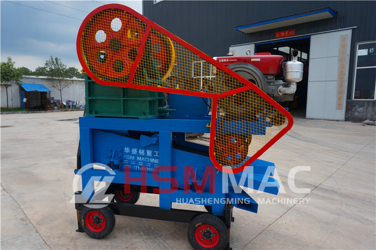 HSM ISO CE Factory Price Portable Small mini mobile stone rock jaw crusher plant
