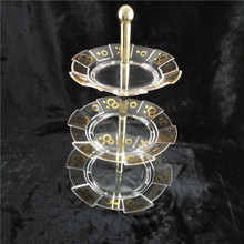 Cyang Round Acrylic Wedding Cake Display Stand Wholesale Cake Stands CY-6007GS