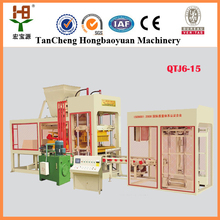 Hot selling fully automatic concrete block making machine QTJ6-15 (Hongbaoyuan Brand) block concrete production line