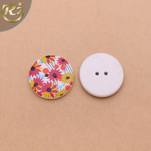 N-1373 Factory Customized Colorful Pattern 2 Hole Garment Sewing Wooden Button