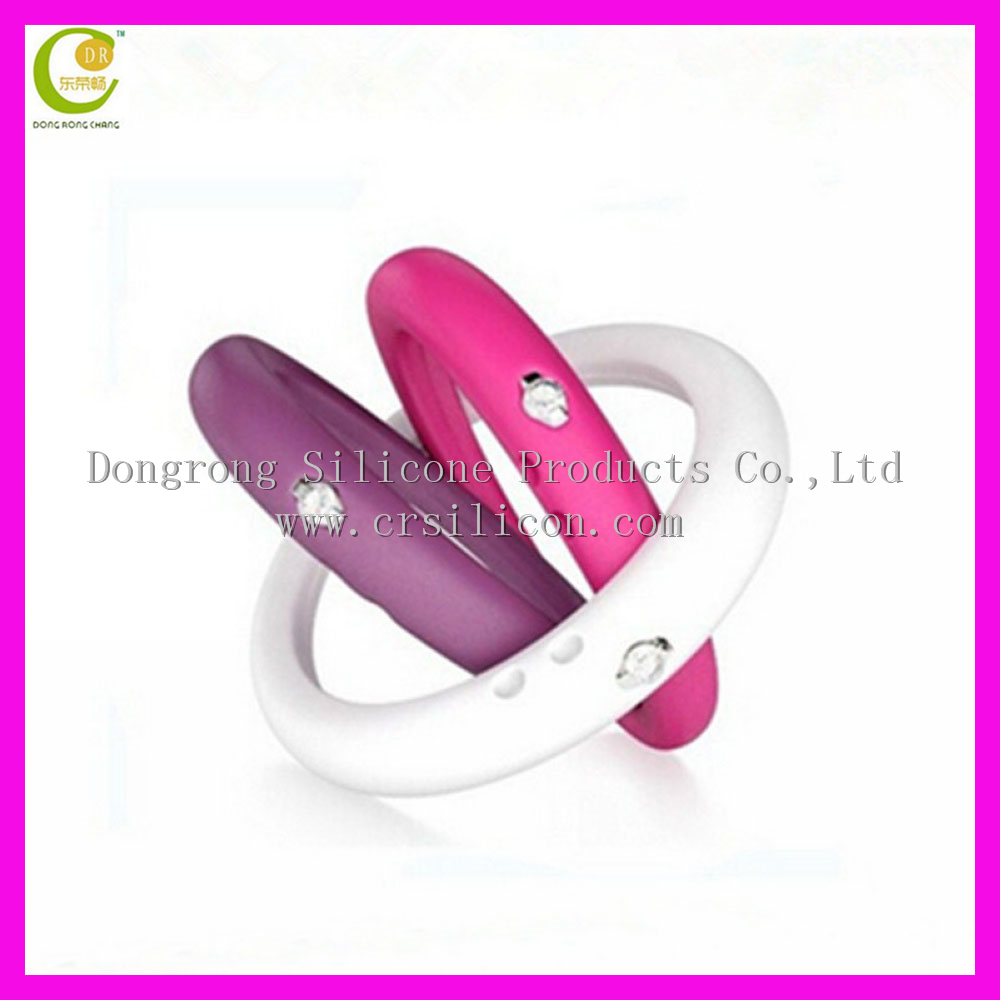 New Best-selling Good Design Silicone Rubber Finger Ring, Designer Diamond Finger Rings, Silicone Finger Rings With Diamond