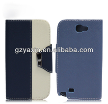 sublimation leather case for samsung note 2,flip leather case for samsung galaxy note2 n7100