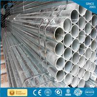 parabolic solar water heater round tapered hot dip galvanized steel pipe galvanzied steel pipe