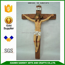 Handmade Polyresin large jesus on the cross figurines