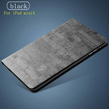 Rock Texture Pu Leather Smart Case for Ipad, Folio Stand Cover Case for Ipad Mini4 Magnetic Case