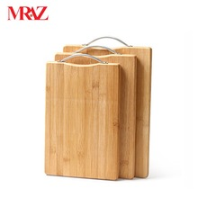 Portable Blank engraved square or round wood bamboo cutting board kitchen