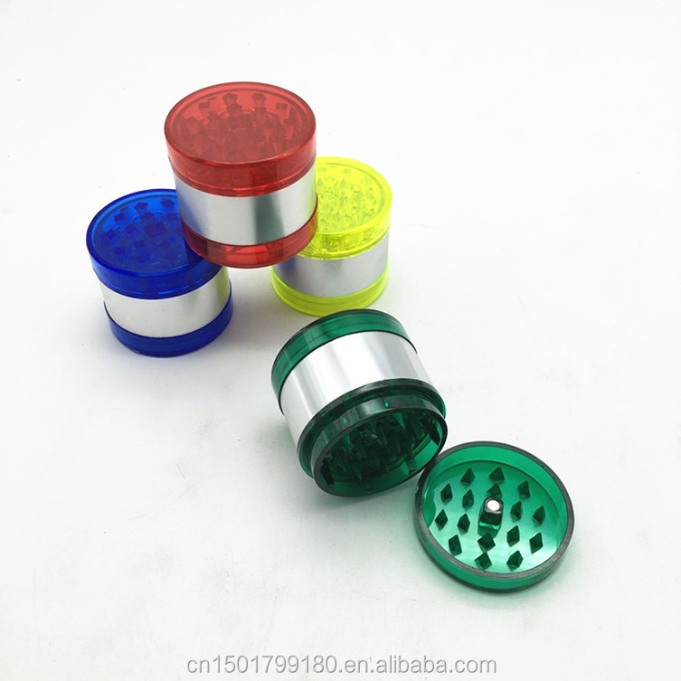 5 Layers Plastic Multi Colors Herb Grinder Weed 52mm Sharp Teeth Smoking Crusher EKJ SuL-52