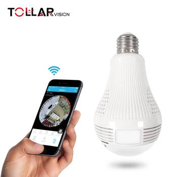 CCTV camera light bulb Design LED 960P Wi-Fi 360 Degrees Light Bulb Camera