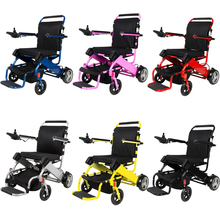 Cheap prices portable aluminum alloy lightweight foldable motor electric wheelchair