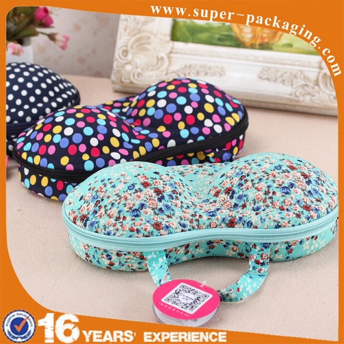 Protective Portable garment packaging EVA Case travel bra Bag for Underwear Lingerie
