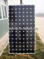 High efficiency Framed design 130w photovoltaic solar panel