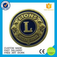 Customized challenge souvenir metal coin for International lion club