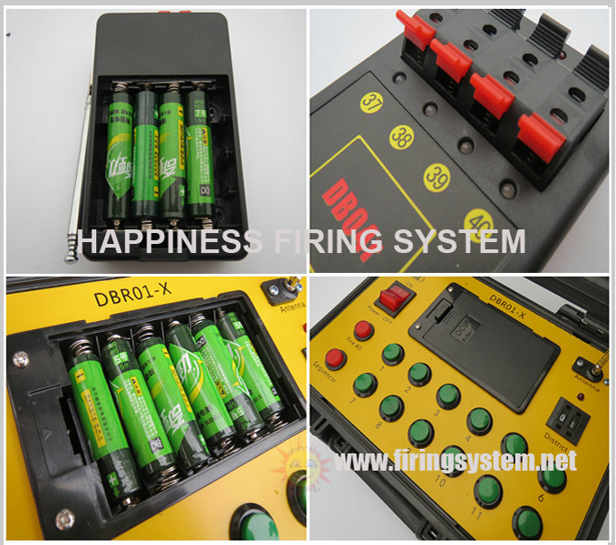 24 cues 500M remote control sequential happinesss pyrotechnic firing system