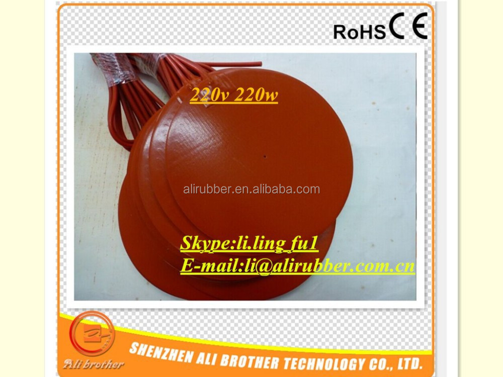 XD-SRP-3576 Round Electric Silicone Rubber Heating Plate -3D Printer Heating Pad Series 24V 1050W Diameter 415*1.5mm
