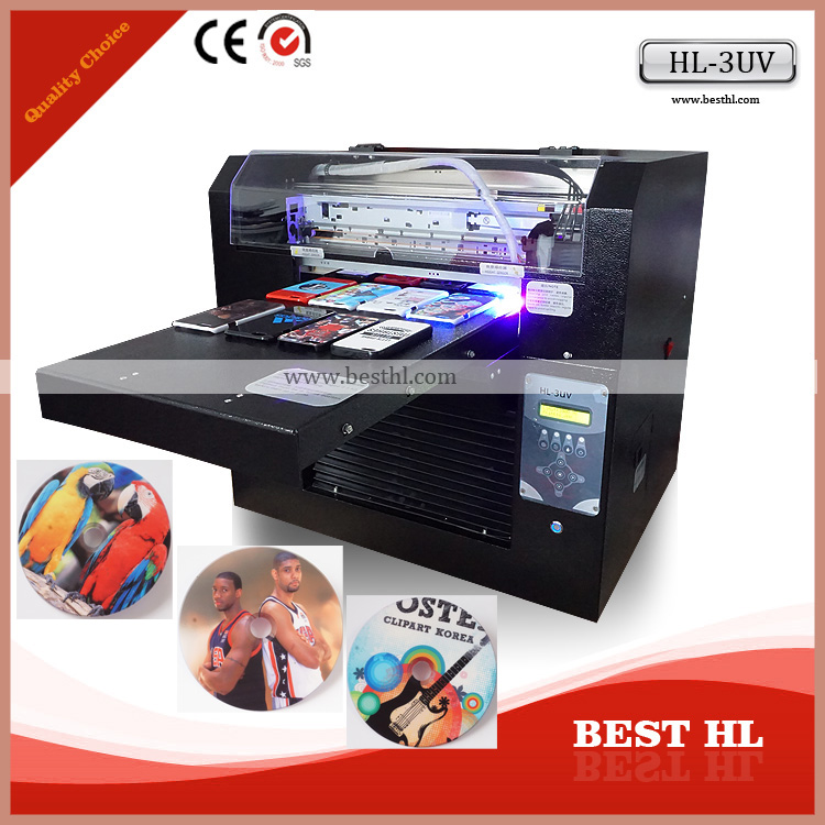 Fully auto uv printer a3 size inkjet cd cover printing machine cd printer phone case printer