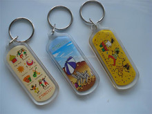 TOP SALE Different types printed custom rectangle custom printed acrylic key chain with many style