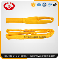 Pallet packed 10t orange color round sling with 6 times safety factor