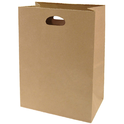 Eco-Friendly White and Brown Die Cut Handle Kraft Paper Bags