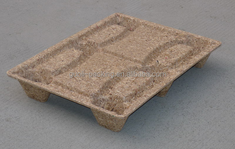 stock compressed wood pallet