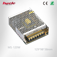 MS-120W 12V ac invert dc mini LED power converter with SGS,CE,ROHS,TUV,KC,CCC certification