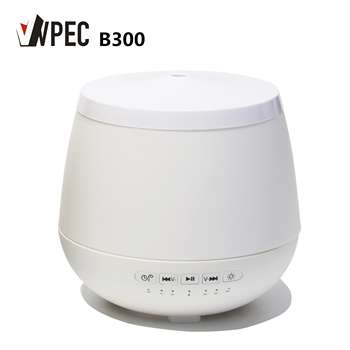 300ml PP plastic wood grain bluetooth aroma air humidifier with essential oil diffuser for home yoga spa