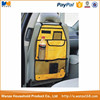 Yellow polyester back seat car organizer pockets for lounge