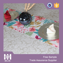 Modern style flower house Table runners ,Polyester table runners, made in china .