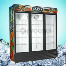 PROCOOL commercial refrigerator 1500L triple hinge door beverage refrigerated showcase