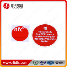 Hot selling 13.5mhz rfid MIFARE DESfire sticky nfc tags