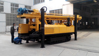 700m deep big power high efficiency hydraulic DTH and rotary borehole water well drilling machine SL1100