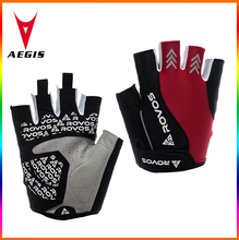 Spring summer silicone rubber non slip half finger to the ladies outdoor cycling riding glove