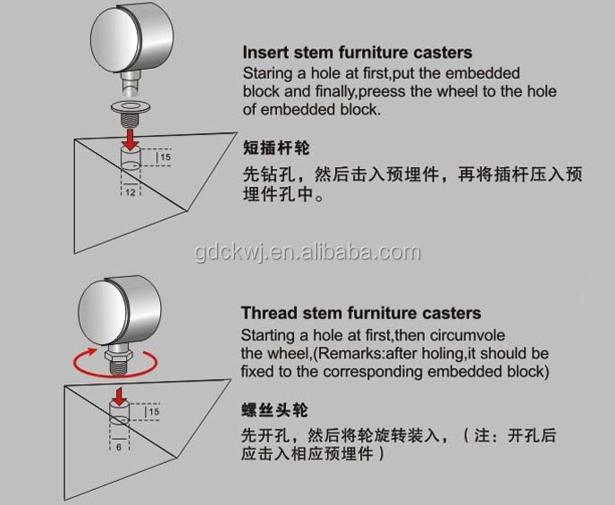 wholesale furniture adjustable  caster wheel office chair heavy duty caster wheels with brake