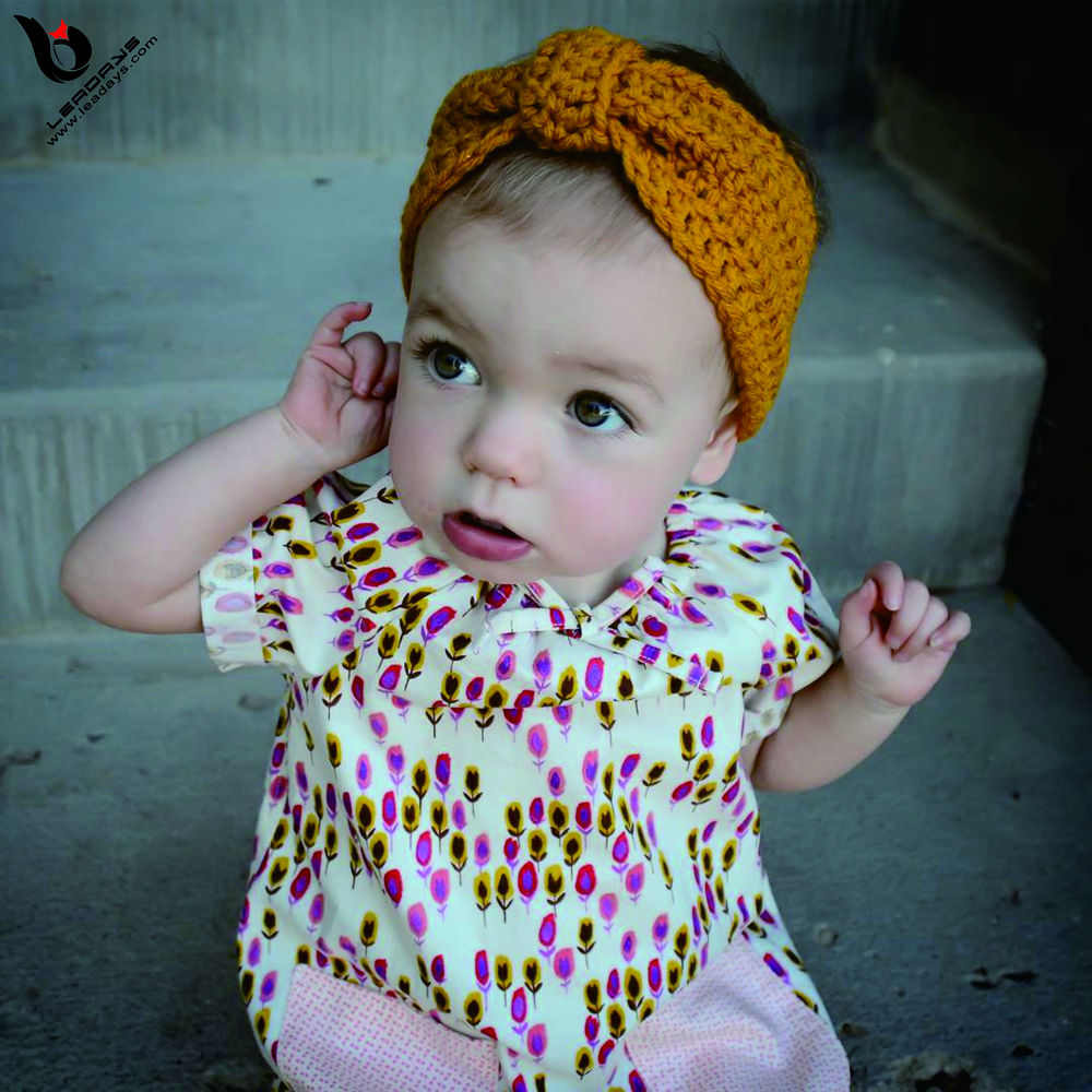 Hot Selling Baby Bow Crochet Knitted Headband wholesale