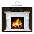 French style decorative antique marble fireplace mantel surround