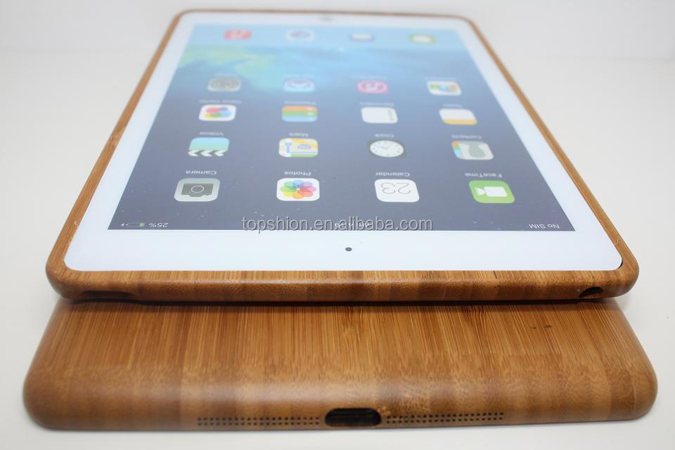 New Case for ipad air, for iPad air iPad 5 bamboo cover case, eco-friendly bamboo case